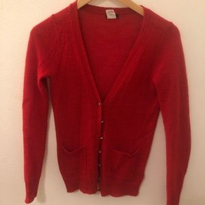 J. Crew Red Cardigan - Alpaca & Wool